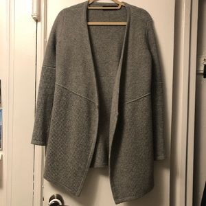 NEW rag & bone 100% wool grey cardigan size P